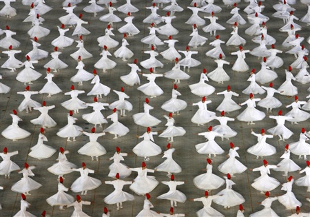 Whirling Dervishes Rumi white robes lots