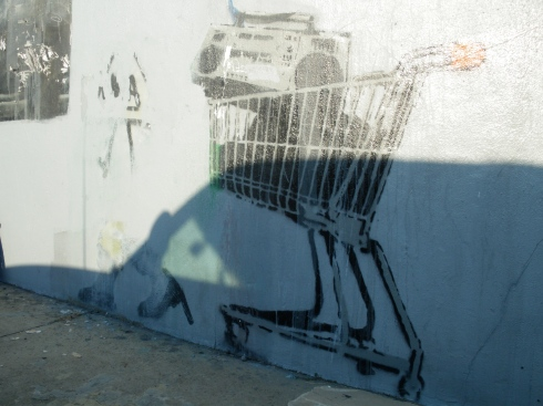 Banksy looting shoping cart new orleans ghetto blaster by chris koentges marigny