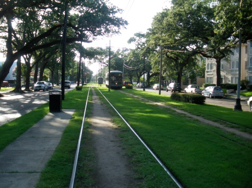 St. Charles Avenue Streetcar by chris koentges uptown new orleans