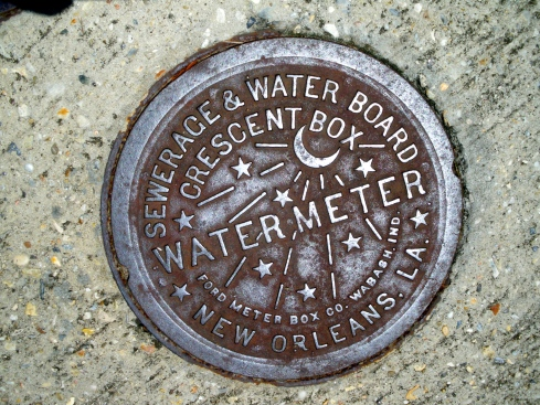 New Orleans Water manhole covers by Chris Koentges