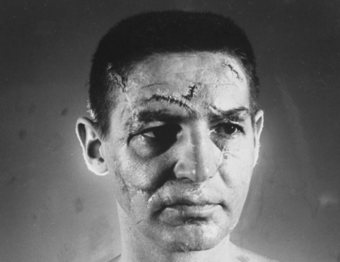 Ralph Morse's photo of Terry Sawchuck for LIFE magazine.